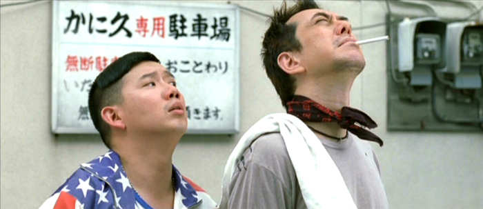 Itsuki (Chapman TO Man Chat) wonders what the heck Bunta (Anthony WONG Chau-Sang) is looking at.